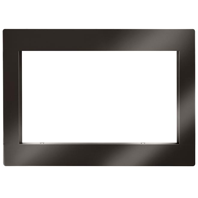 Ensemble d'encastrement pour four à micro-ondes, 30'', inox noir