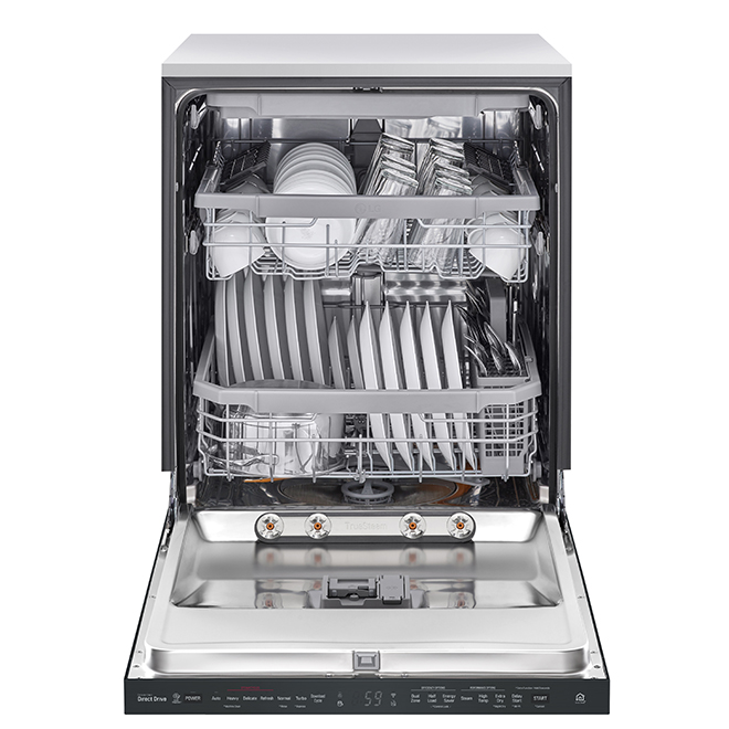 "LG Built-In Dishwasher with TrueSteam(R) - 24"" - Matte Black"
