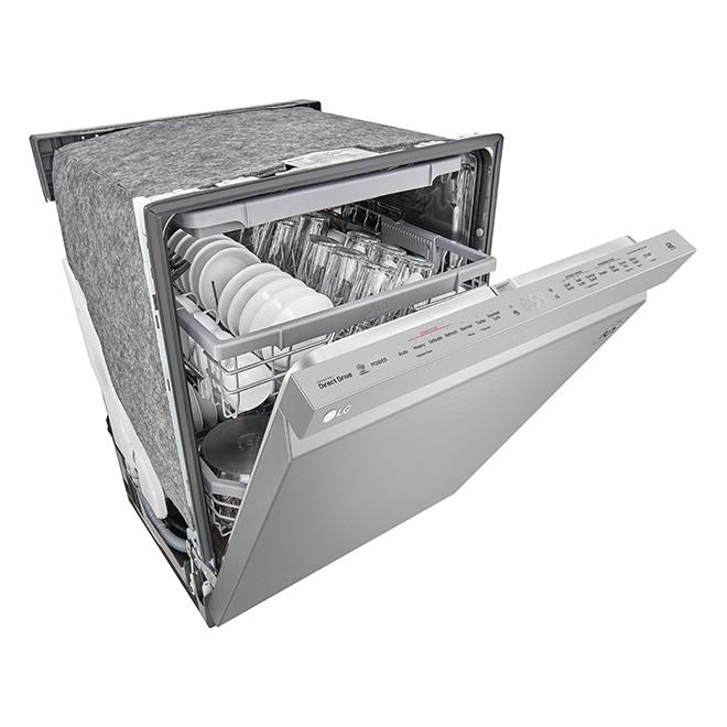 """Lave-vaisselle encastré LG avec TrueSteam(MD), 24"""", inox"""