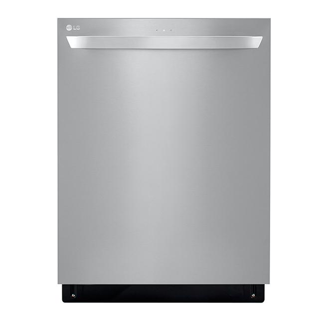 LG QuadWash Smart Slide-In Dishwasher - Fingerprint Resistant - 24-in - SS