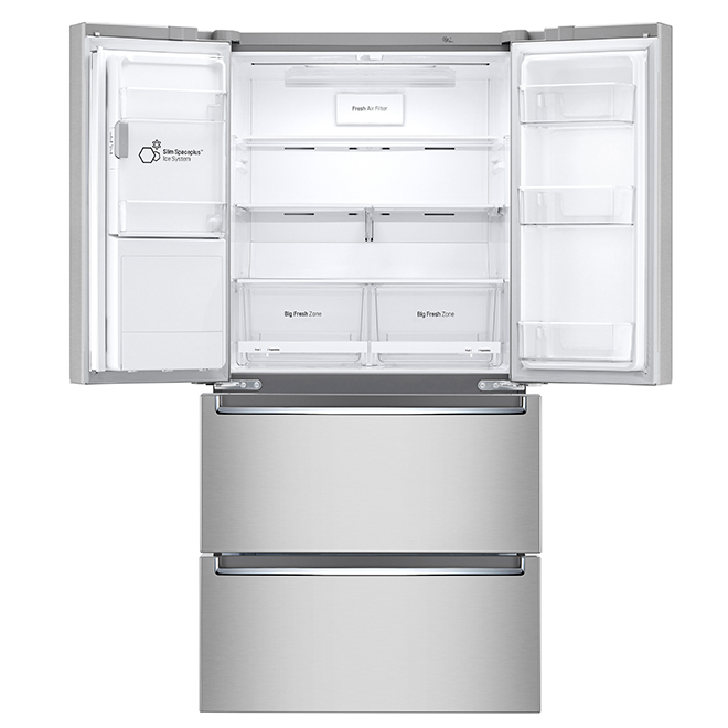 Refrigerator with SmartThinQ(R)  -18 cu. ft. - Stainless Steel