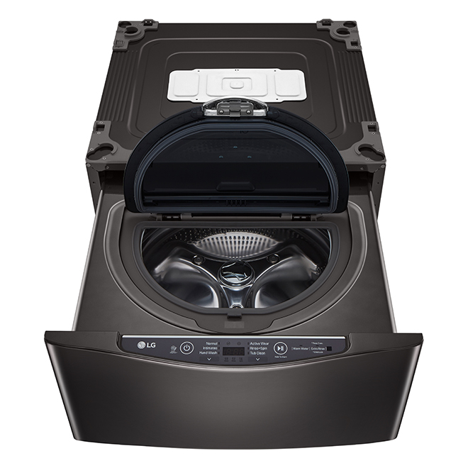 "LG(R) Sidekick(TM) Pedestal Washer - 27"" - Black Steel"