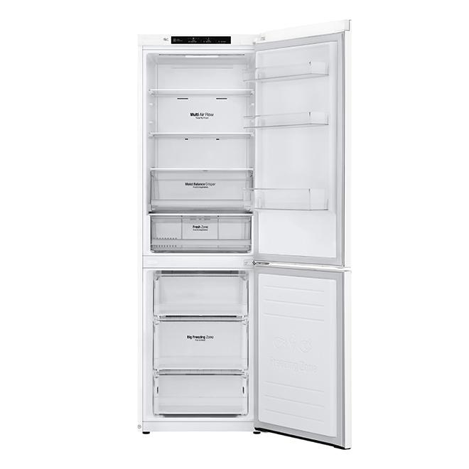 """Réfrigérateur LG à congélateur en bas, 12 pi³, 24"""", blanc"""