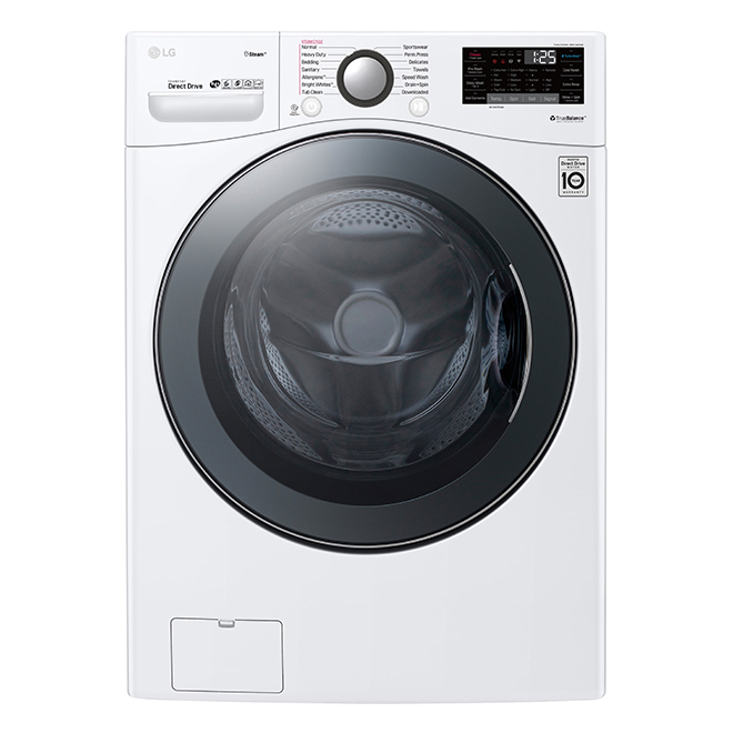 "LG Smart Front-Load Washer - 27"" - 5.2 cu. ft. - White"
