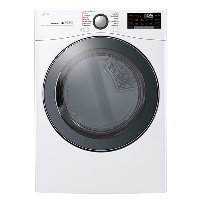"LG Smart Electric Dryer - 27"" - 7.4 cu. ft. - White"