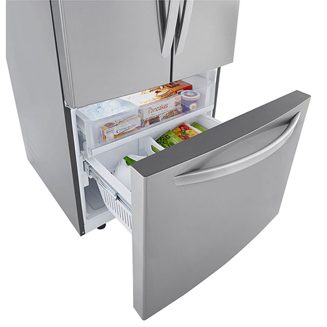 """LG French-Door Refrigerator - 33"""" - 25 cu. ft. - Stainless"""