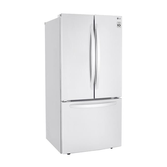 """Réfrigérateur à portes françaises LG, 33"""", 24 pi³, blanc"""
