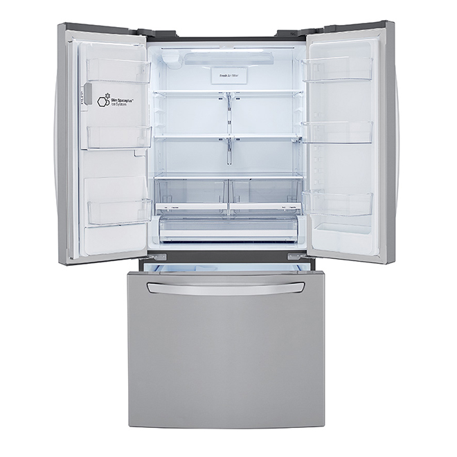 """LG French-Door Refrigerator - 33"""" - 24.5 cu. ft. - Stainless"""