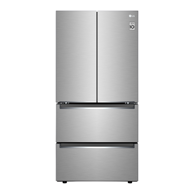 LG French-Door Refrigerator - 18 cu. ft. - Stainless