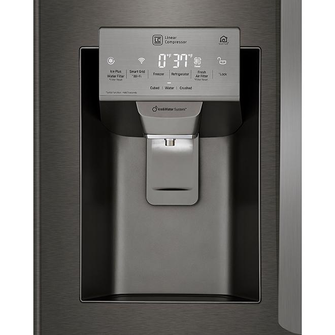"LG French-Door Refrigerator - 33"" - 24.5 cu. ft. - Black SS"