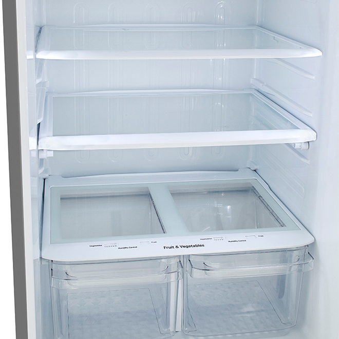 """Réfrigérateur LG avec congélateur en haut, 30"""", 20 pi³, inox"""