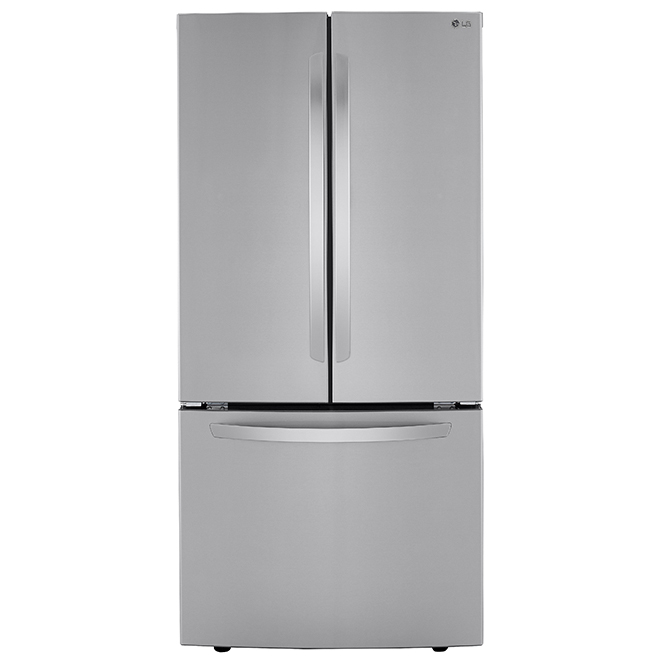"LG French-Door Refrigerator - 33"" - 25.1 cu. ft. - Stainless"