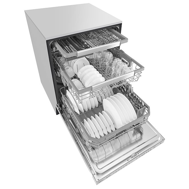 "LG Built-In Dishwasher - QuadWash - 24"" - Stainless Steel"