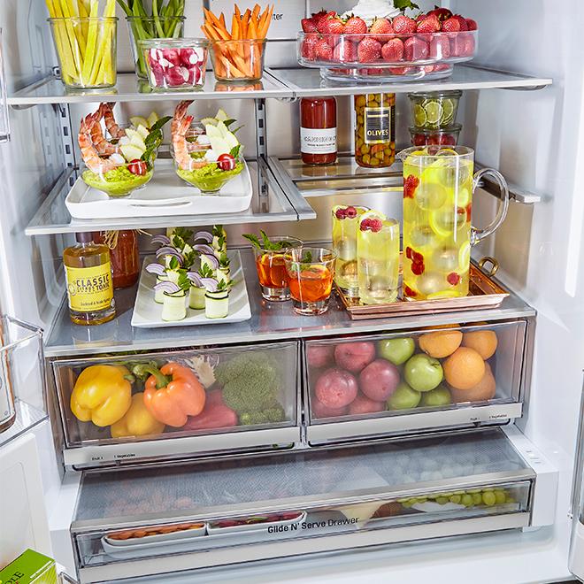 "LG French-Door Refrigerator - 36"" - 29.7 cu. ft. - Black SS"