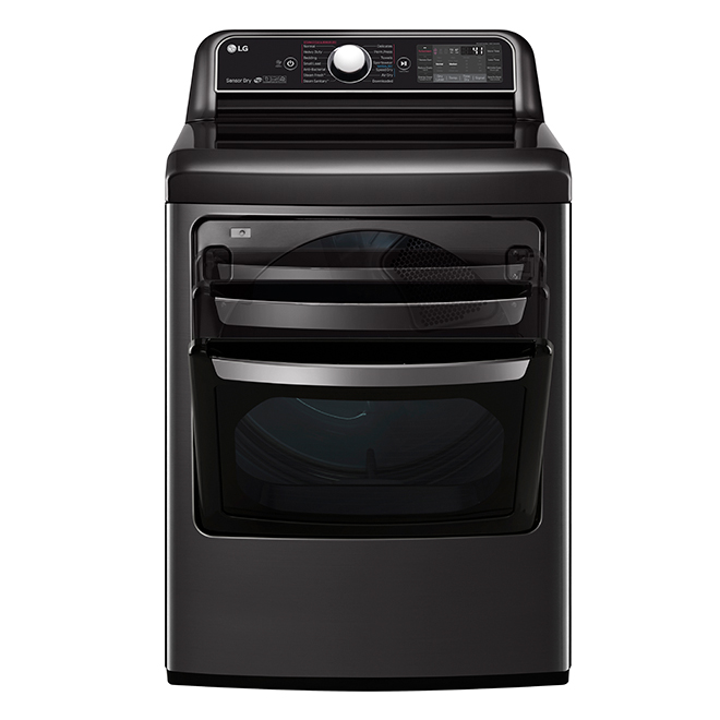 LG Electric Dryer - TurboSteam - 7.3 cu.ft. - Black Stainless
