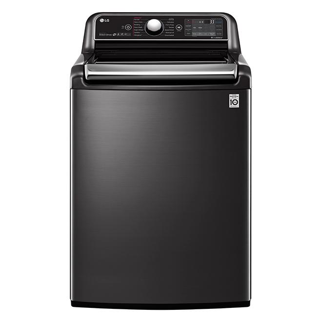 Laveuse à chargement vertical LG, 27'', 6 pi³, noir inox