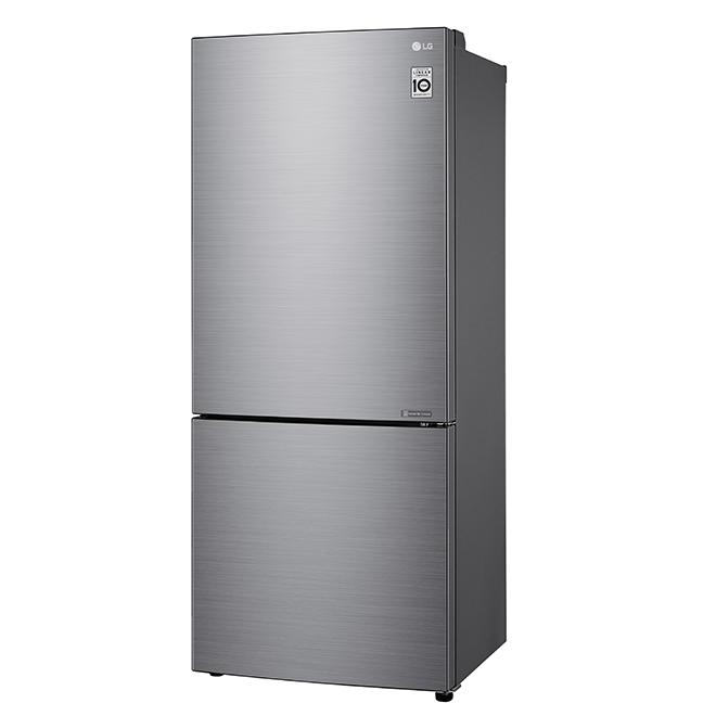 """Bottom-Freezer Refrigerator - 15 cu. ft - 28"""" - Platinum Silver"""