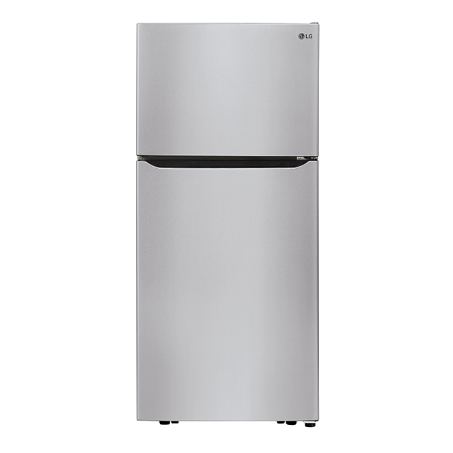 "LG Top-Freezer Refrigerator - 30"" - 20 cu. ft. - Stainless"