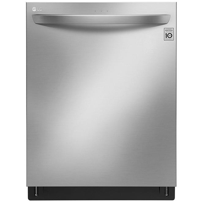 LG QuadWash Smart Built-In Dishwasher - TrueSteam and QuadWash - 24-in - Stainless Steel