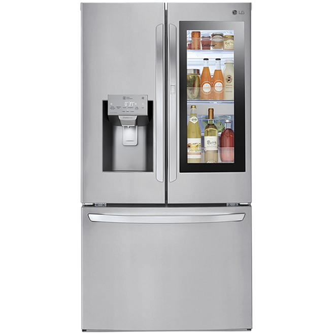 LG French Door Refrigerator with InstaView Window - 27.5 cu. ft. - 36-in - Stainless Steel