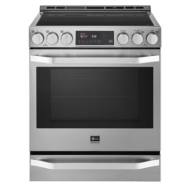 LG - Smart Slide-in Range - Induction - 6.3 Cft - 30-in - Stainless Steel