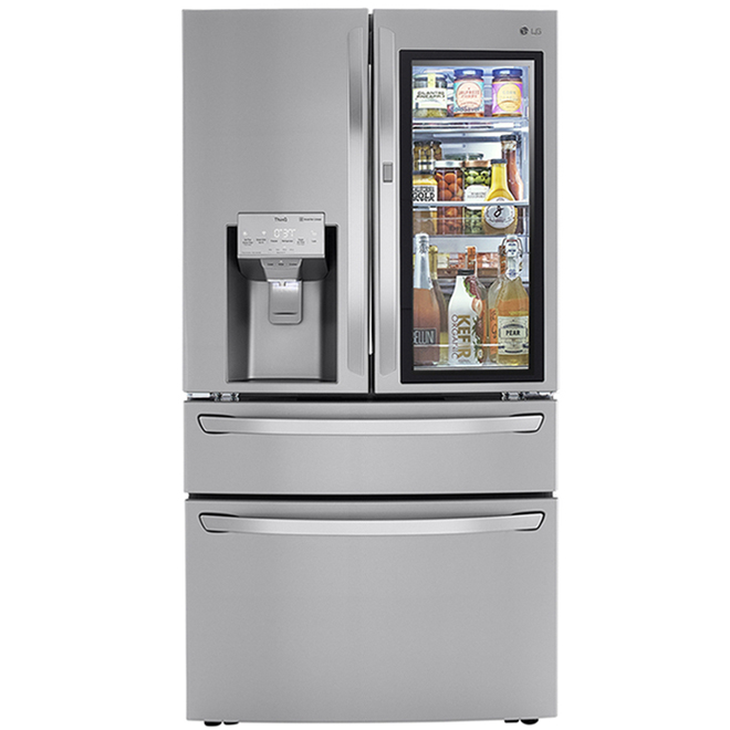 LG French Door Refrigerator with InstaView Panel and Craft Ice - 36-in - 29 cu. ft. - Stainless Steel