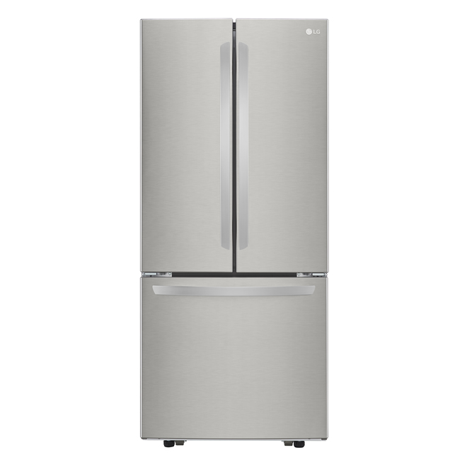 LG French Door Refrigerator - Smudge Resistant - 30-in - 21.8 cu ft - Stainless Steel