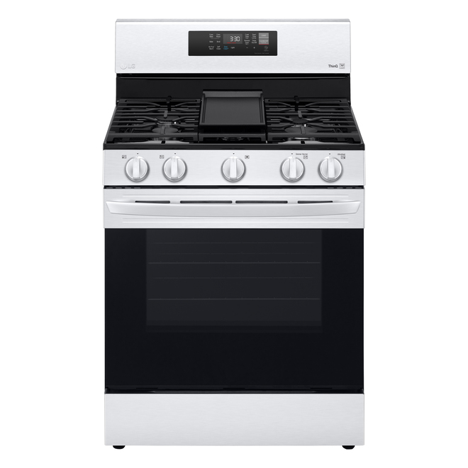 LG Freestanding Gas Range with Air Fry - 5 Burners - 5.8 cu. ft. - 30-in - Stainless Steel