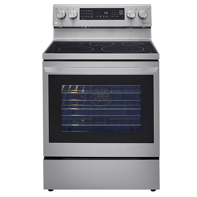 LG Electric Range with InstaView Window and AirFry - 6.3 cu. ft. - 30-in - Stainless Steel
