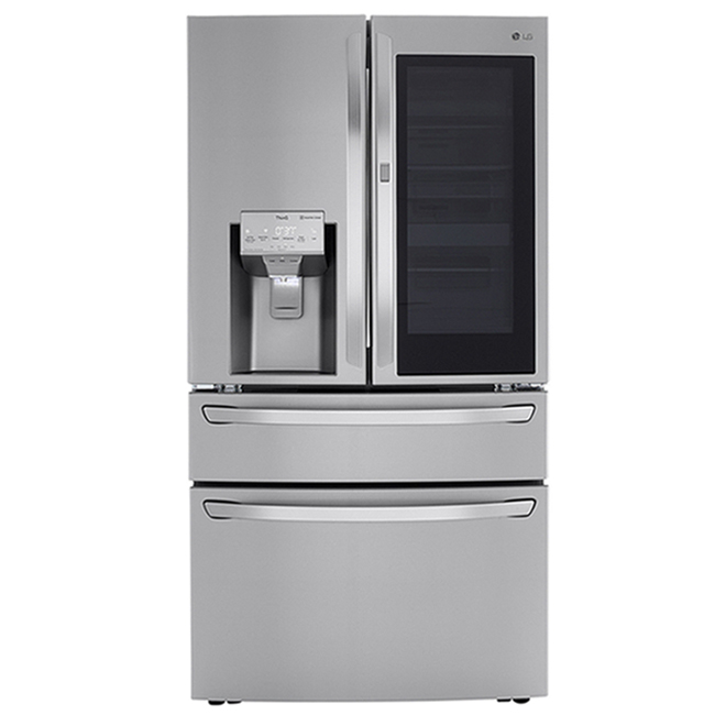 LG French-Door Refrigerator with Dual Drawer and InstaView - 36-in - 23 cu. ft. - Stainless Steel