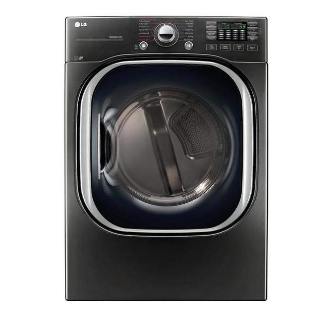 LG Smart Electric Dryer with TurboSteam Technology - 7.4 cu. ft. - Black Steel