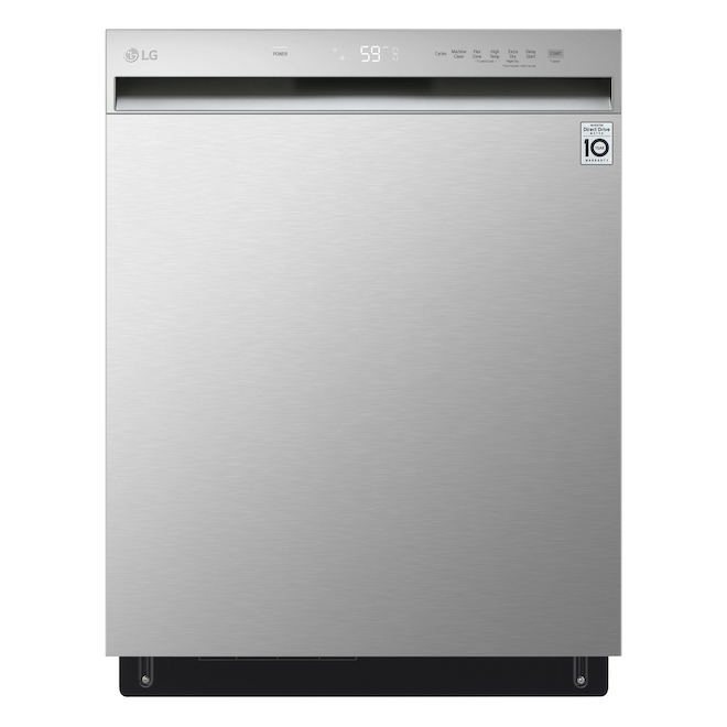 LG Stainless Steel Front Control Dishwasher with QuadWash and Dynamic Dry
