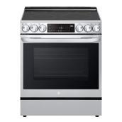 Cuisinière électrique LG InstaView ThinQ de 6,3 pi³ en acier inoxydable avec AirFry
