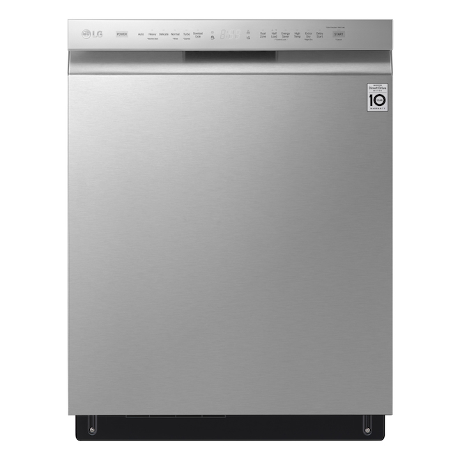 LG Stainless Steel Front Control Dishwasher with QuadWash, Dynamic Dry and Third Rack