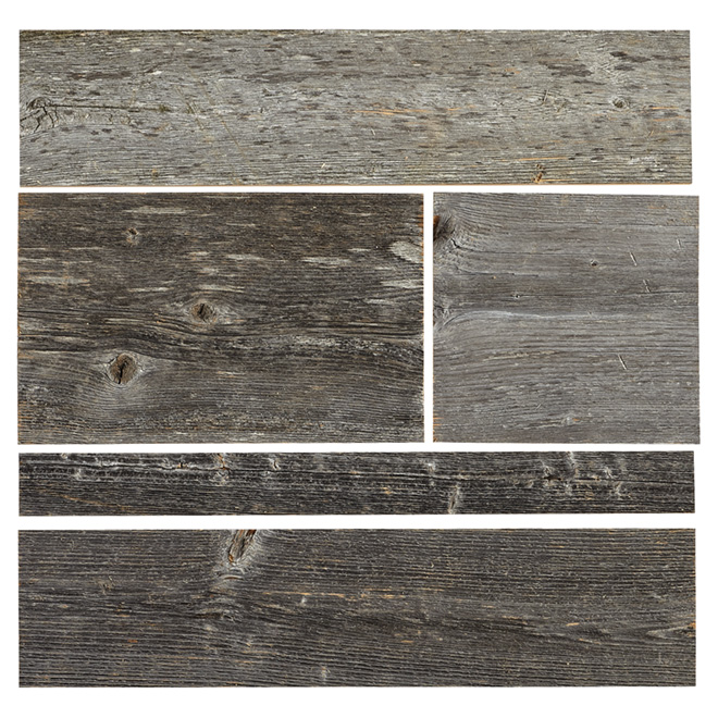 "Grange Design Wood Panel - Real Barn Wood - 2"" to 10"" - Grey"