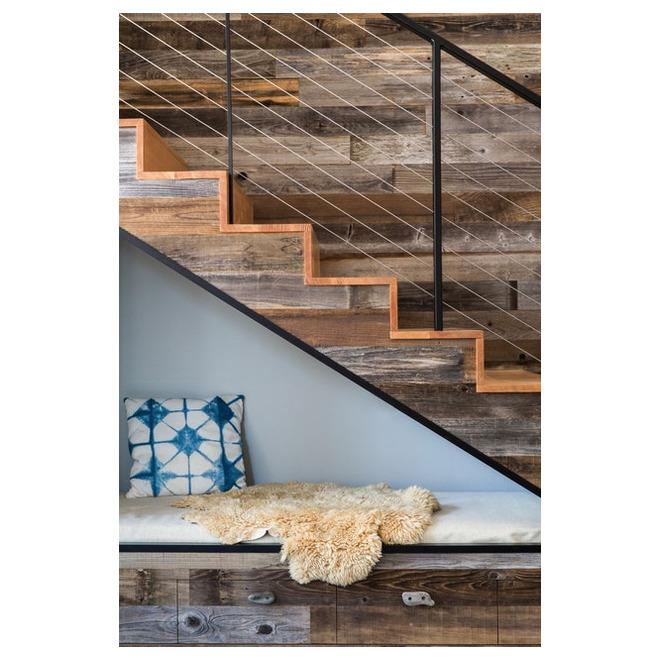 "Grange Design Wood Panel - Real Barn Wood - 2"" to 10"" - Grey"