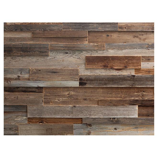 """Wood Panel - Real Barn Wood - 2"""" to 10"""" - Brown"""