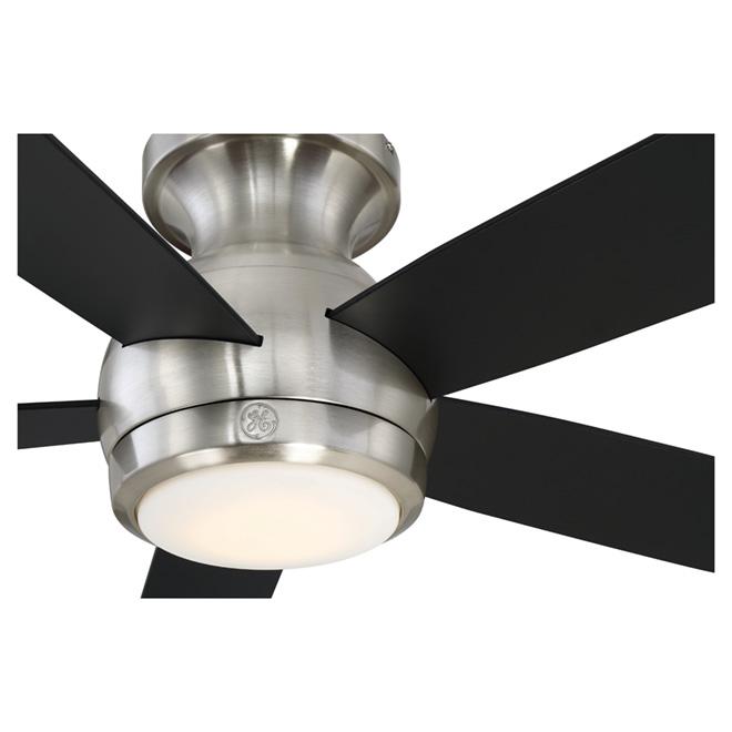"5-Blade Ceiling Fan- 52"" -LED 18 W -Brushed Nickel"