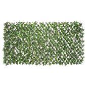 Treillis extensible «gardénia», bois/PE, 40'' x 80'', vert