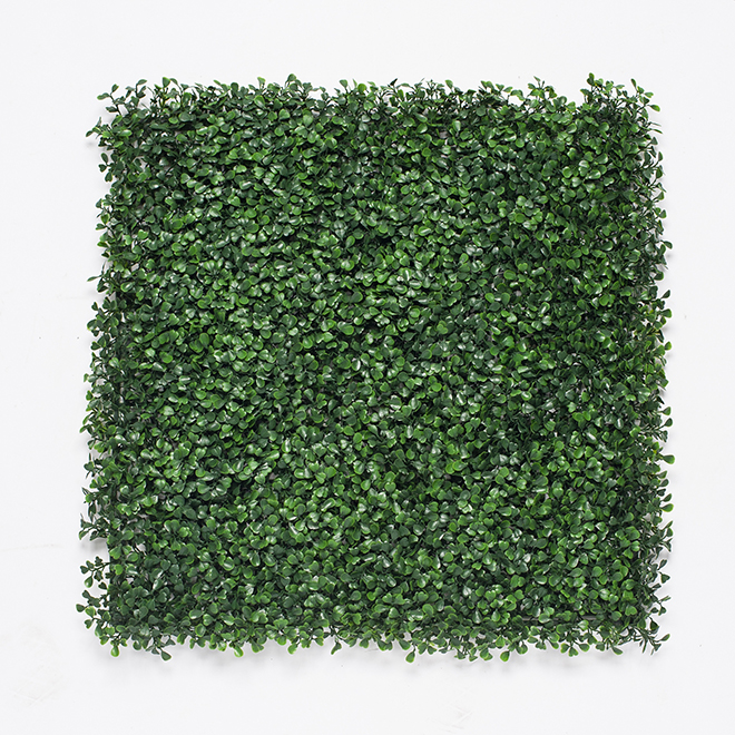 Artificial Boxwood Panel - 40'' x 40'' - Green