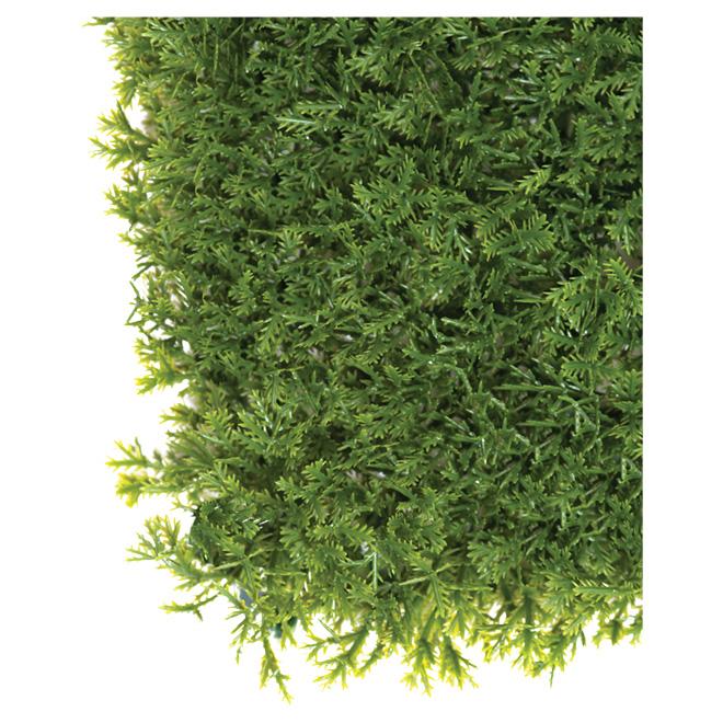 Panneau de cèdre artificiel, 40'' x 40'', 11 pi², vert