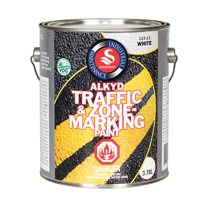 Solignum Traffic and Zone Marking Paint - 3.78 L -  White