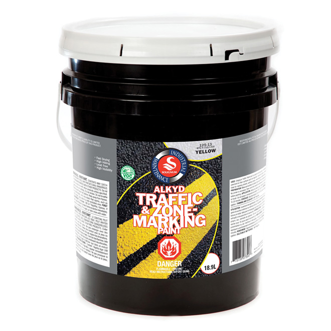 Traffic and Zone Marking Paint 18.9 L - Yellow