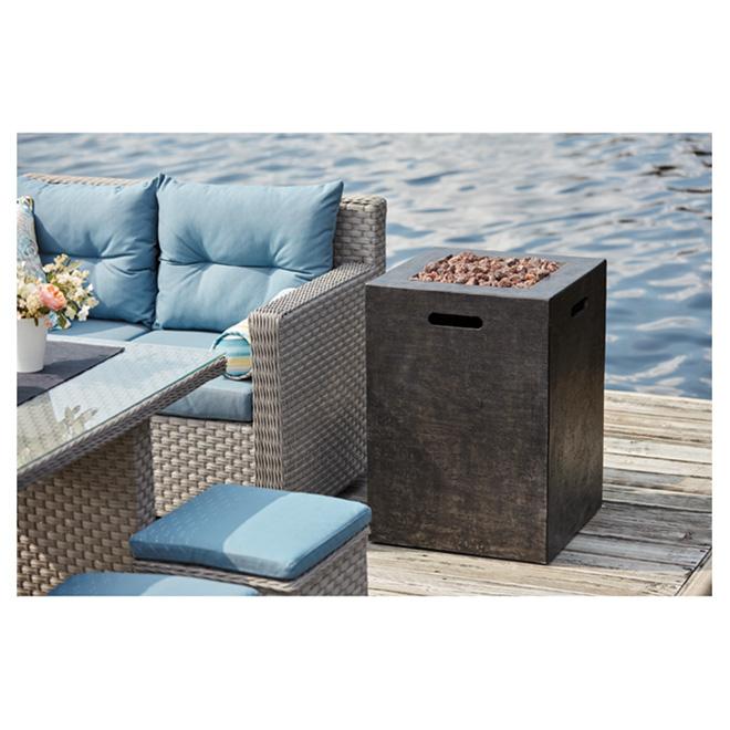 Propane Outdoor Fireplace - Column - 40,000BTU - Black