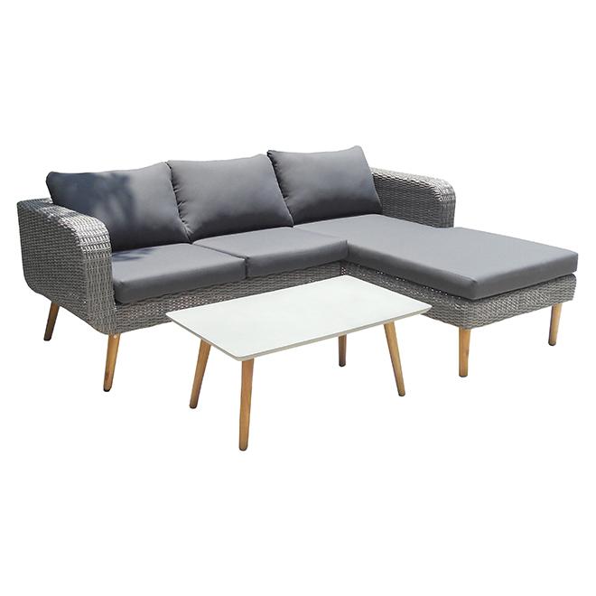 Patio Conversation Set - Marroco - Grey - 3 places