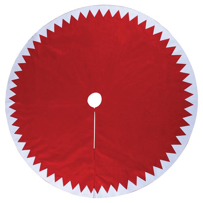 """Tree Skirt - Felt - 48"""" - Red/White"""