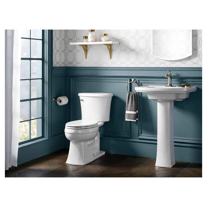 Elliston Elongated-Front 2-Piece Toilet - 4.85 L - White