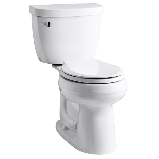 Toilette 2 pièces Comfort Heigh «Cimarron», ronde, blanche