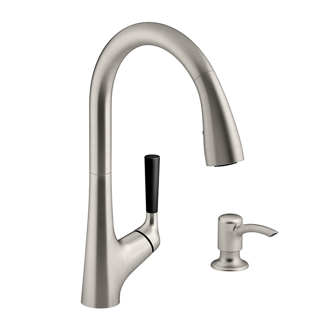 Malleco Pull Down Kitchen Faucet 1 Handle Stainless Steel