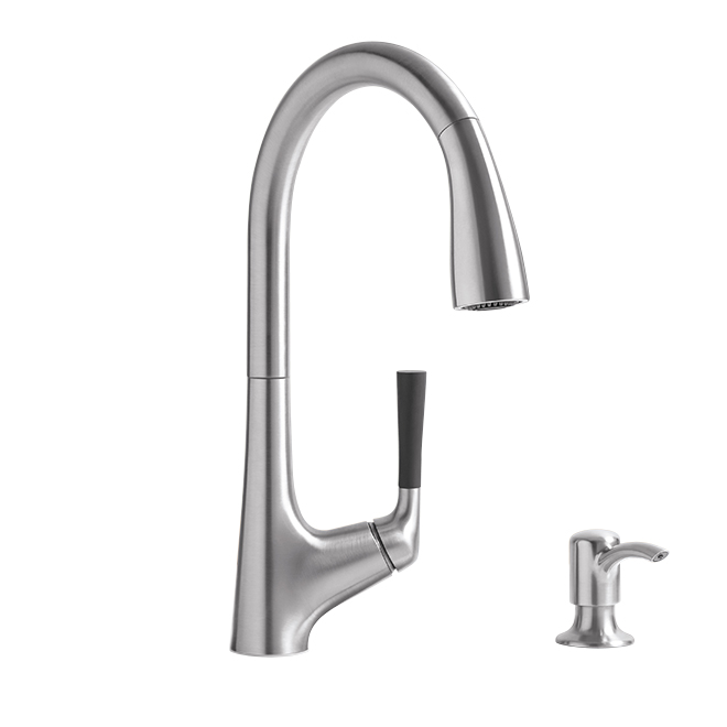 Malleco Pull Down Kitchen Faucet - 1 Handle - Stainless Steel